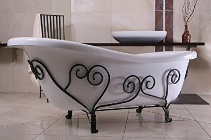 Vasca Da Bagno Troppo Lunga : Lusso staccata bagno in stile liberty mediterraneo bianco