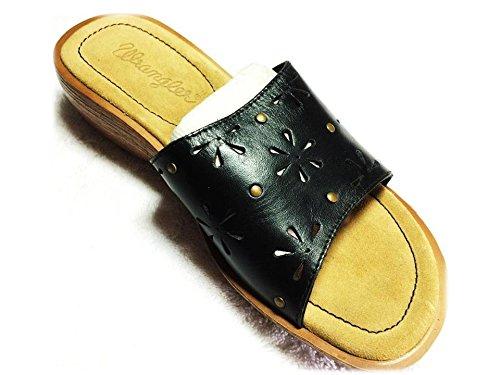Wrangler - Sandalias de vestir de Piel para mujer negro negro
