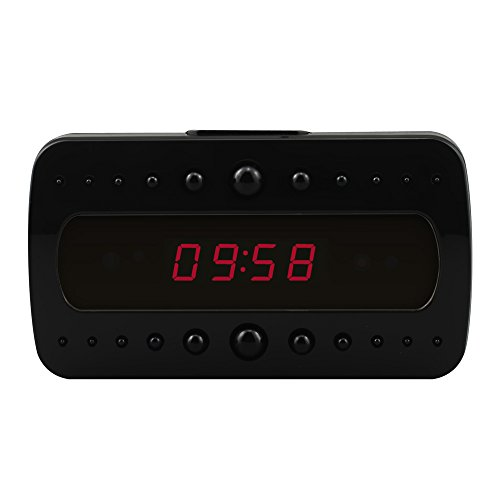 Buy cheap littleadd hidden camera alarm clock 1080p full spy motion detection activated app real time video