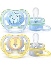 Philips Avent Ultra Air Napp - En lätt napp som andas - Ortodontisk och BPA-fri - Lämplig för ålder 0-6 mån - 2-pack - SCF085/01