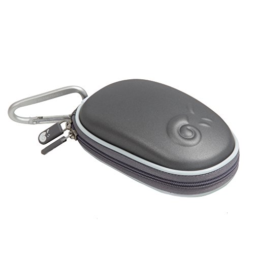 Hermitshell Hard EVA Storage Carrying Case Bag Fits Apple Magic Mouse (I and II 2nd Gen) and Carabiner (Grey)