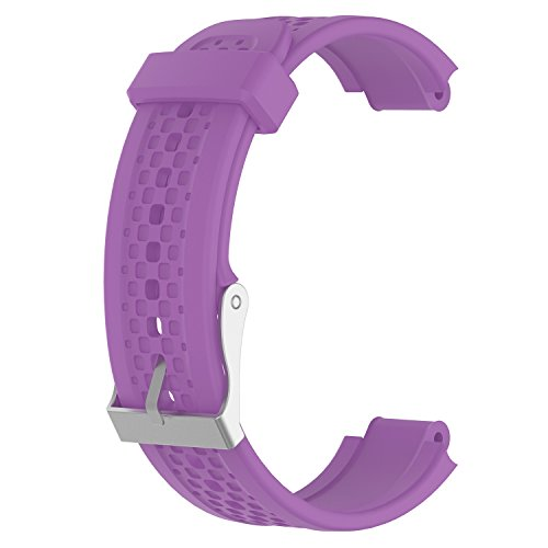 ECSEM Replacement Band for Garmin Forerunner 25 GPS Running Watch Wristband Fitness Tracker for Smartphone(Female Strap) (Purple)
