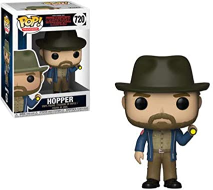 Funko 36039 Pop Vinilo: Televisión: Stranger Things: Hopper con Linterna, Multi
