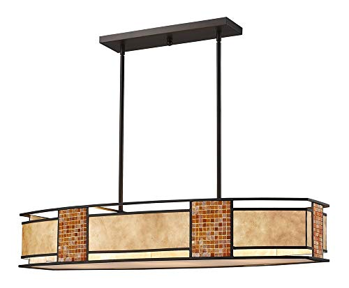 Z-Lite Parkwood 4 Light Kitchen Island Pendant in Bronze