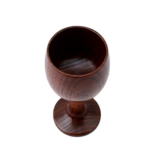 HS Jujube Wooden Wine Goblet Water Cup - Goblets Wooden