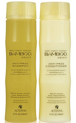 Bamboo Hair Shampoo - ALTERNA BAMBOO Smooth Shampoo & Conditioner Set (8.5 Oz Each)