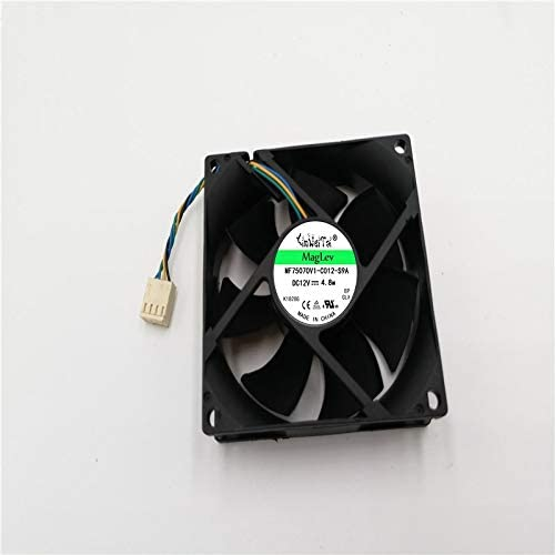 4-wire 4-pin 40mm For AVC DS08025T12UP033 DC 12V 0.70A 80x80x25mm Server Square cooling fan