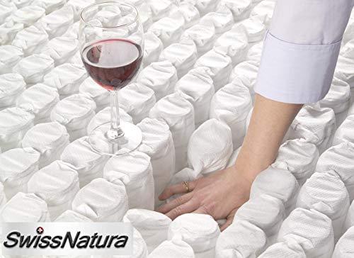 SwissNatura Colchon Muelle ensacado Independiente con viscografeno y viscogel Berna (135x180): Amazon.es: Hogar