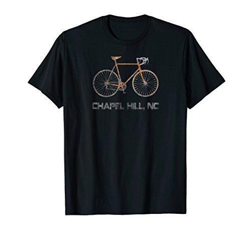 - Vintage Chapel Hill NC Bike Cyclist T-Shirt