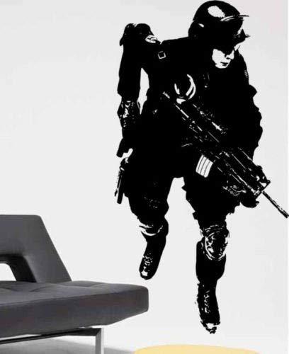 jiuyaomai Tatuajes de Pared Soldado Militar Army Man Boy Room ...