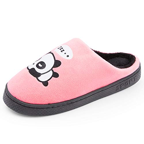 Indoors Room Comfy Shoes Pink Toe Men House Warm Closed Panda Soft OUYAJI Women Shoes Slippers S1wz8YYR
