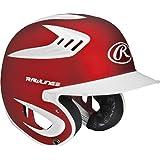 Rawlings 80 Mph Two Tone Translucent Matte Batting Helmet, Scarlet, Junior