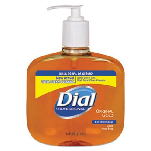 Dial Professional 80790CT Gold Antimicrobial Soap Floral Fragrance 16oz Pump Bottle 12/Carton