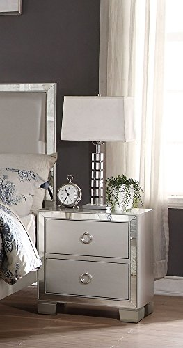 home, kitchen, furniture, bedroom furniture,  nightstands 7 picture ACME Voeville II Platinum Nightstand promotion