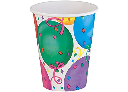 Eros Hosiery Company KIN93380 Healys Balloons 9oz Hot & Cold Paper Cups by Hanna K. Signature - Case of 24