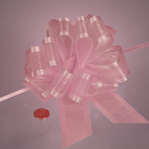 Pink Arabesque Ribbon Bow, 4'' by Paper Mart
