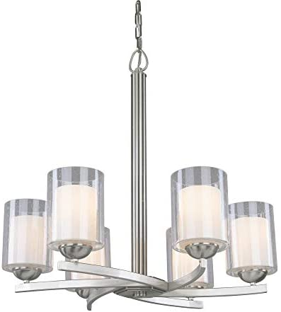 Woodbridge Lighting 12186-STN Cosmo 6-Light Chandelier, Satin Nickel