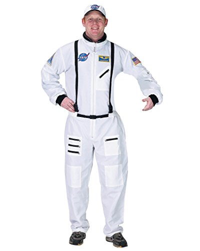 White Space Suit Costume Astronaut NASA Moon Landing Mens Theatrical (Real Astronaut Helmet For Sale)