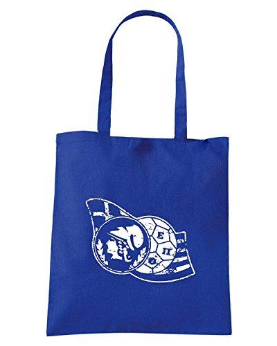 T-Shirtshock - Bolsa para la compra WC0382 GREECE T-SHIRT - HELLENIC FOOTBALL Azul Real