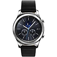 Samsung Gear S3 Classic Smartwatch Verizon 4G LTE Silver with Black Leather Band - Refurbished
