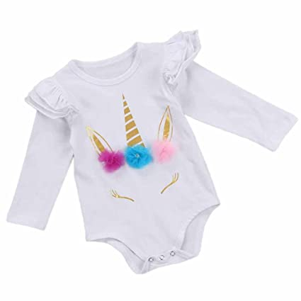 559733cb1a2 Buy Napoo Hot Sale Napoo Newborn Baby Girls Floral Print Long Sleeve Romper  Clothes (18-24 Months