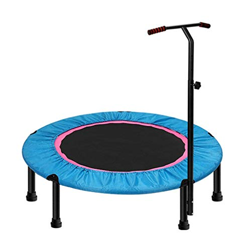 LXDDB 40inch; Exercise Trampoline for Adults or Kids, Mini Fitness Trampoline with Adjustable T-bar Stability Handle Aerobic Bouncer Trampoline for Gym/Home, Max. Load - T-bar Stakes