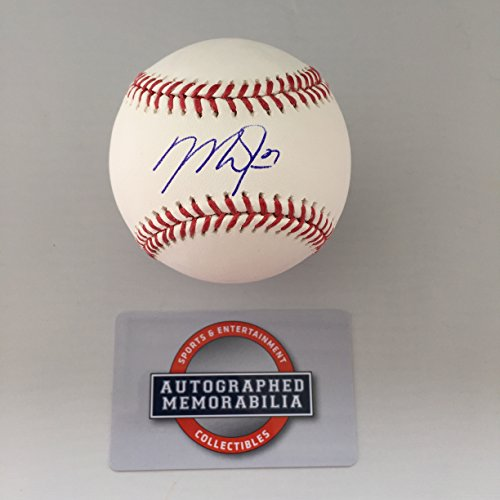 los-angeles-angels-mike-trout-autographed-signed-official-authentic-major-league-baseball-coa-displa