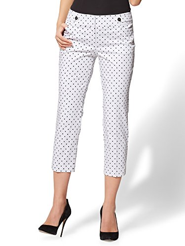New York & Co. 7Th Avenue Pant - Crop Straight Leg 18 Paper White
