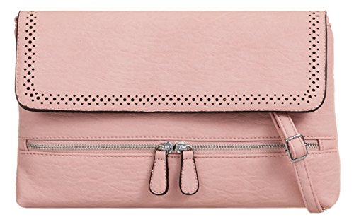 Bag Pink Front Clutch Zipper Handbags Girly wBSYTqI4q