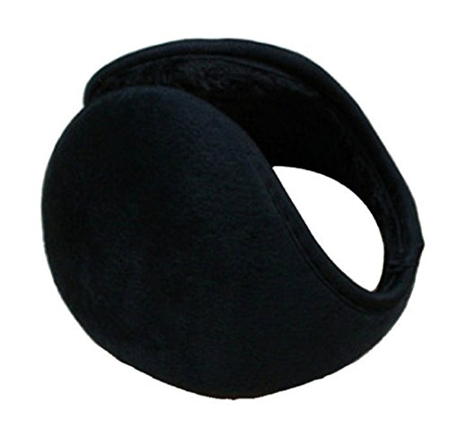 Healtheveryday® Unisex New Men Women Winter Ear Muffs Warmers Pad Fleece Cover Wraps Earmuffs Earwarmers Fit Most (Black)