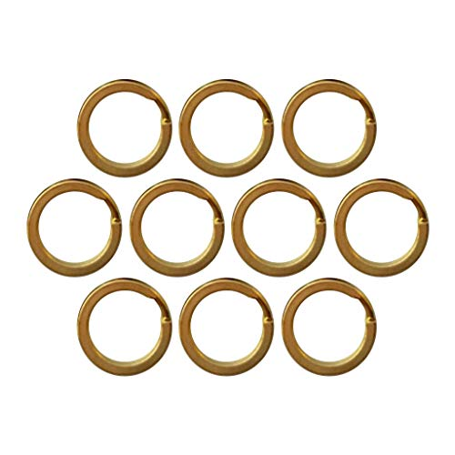 - NATFUR 10Pcs/Set Split Keyring Keychain Key Ring Loop Holder Clasps Connector 15mm-32mm for Women Cute Perfect for Girls Beautiful Beauteous | Size - 20mm