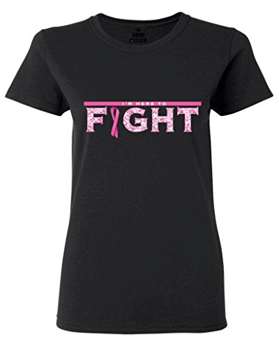 Shop4Ever® Here To Fight Women's T-Shirt Pink Breast Cancer Shirts
