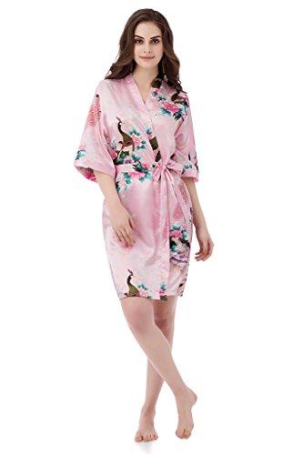 gusuqing Womens Printing Peacock Kimono