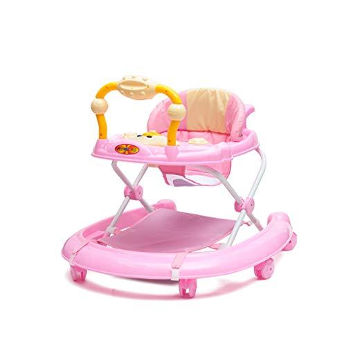 Andadores para bebés, 6-18 meses El asiento antivuelco plegable para bebés se puede sentar y empujar para los niños...