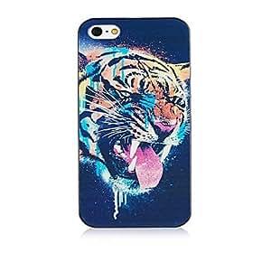 JAJAY- Leopard Head Design Black Frame Back Case for iPhone 4/4S