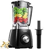 Aicook Blender, Smoothie Blender, 1450W 6 Fins Titanium Plated Stainless Steel, Crush Food in Seconds, 72 Oz, BPA-Free, Black
