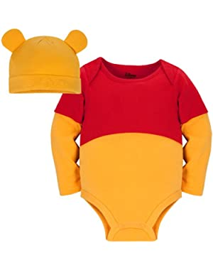 Disney Baby-boys Store Winnie The Pooh Costume Onesie Bodysuit with Hat
