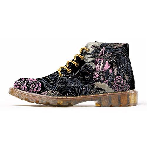 per Moda Stile Qianliuk Oxfords Scarpe Caviglia alla Uomo Scarpe Stivale Primavera Martins Uomo Mens 1 TTwP6xB