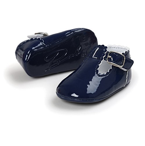 Primeros zapatos para caminar,Auxma La princesa del bebé Sola suave calza las zapatillas de deporte del niño Zapatos ocasionales Armada