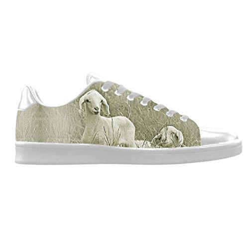 Dalliy Schaf Muster Mens Canvas shoes Schuhe Lace-up High-top Sneakers Segeltuchschuhe Leinwand-Schuh-Turnschuhe D