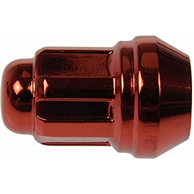 Dorman 711-235E Pack of 16 Red Wheel Nuts and 4 Lock Nuts with Key: Automotive