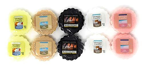 Yankee Candle Beach Tarts Wax Melts - Set of 10 Tarts Wax Melts (Yankee Candle Tarts Set)