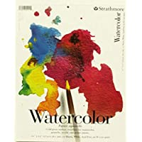 "Strathmore 25-111 200 Series Watercolor Pad, Cold Press, 11""x15"" Tape Bound, 15 Sheets"