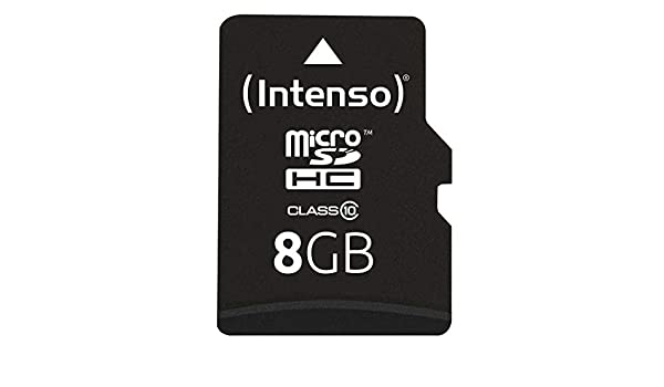 Amazon.com: Intenso microSDHC Card 8GB, Class 10, 3413460 ...