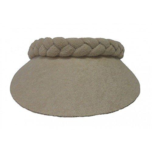 - Cushees Braided Terry Cloth Visor [230] (Beige)