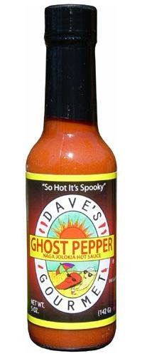 Dave's Gourmet Naga Jholokia (Ghost Pepper) Hot Sauce, 5-Ounce Bottles (Pack of 3) (Dave Marketplace)
