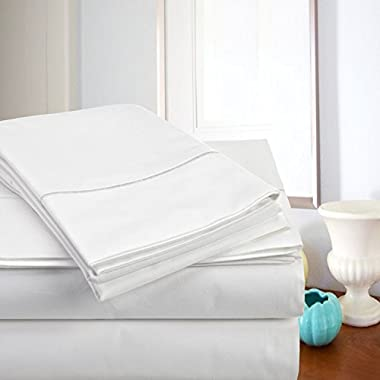 Top Sellers - MEGA SALE TODAY! #1 Rated Luxury Sheets On Amazon-Highest Quality! Luxury 800 Thread count 100% Egyptian Cotton Ultra Soft Super Combed Yarns 4 Piece Sheet Set, King - White