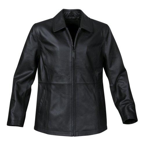 Stormtech - Women's Classic Leather Club Jacket, Black, S (Grain Cuff)