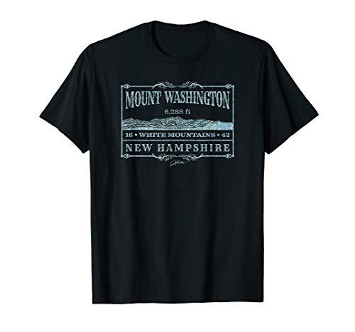 (JCombs: Mount Washington, White Mountains, NH (Distressed) T-Shirt)