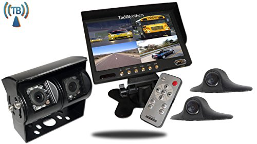 Tadibrothers 9 Inch Wireless Ultimate RV Backup Camera System with Double CCD RV Camera